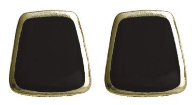 Black Trapezoid Earrings