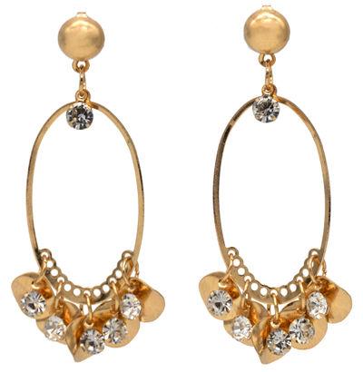 Samsara Gold Oval Earrings