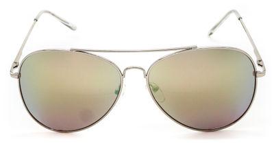 Amelia Champagne Aviator Sunglasses