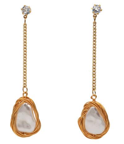 Acrylic Teardrop Pearl Drop Earring
