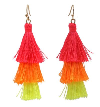Fiery Fiesta Fringe Earrings
