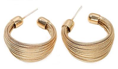 Bundled Gold Hoop Earrings