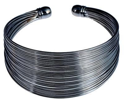 Black Multilayer Wire Cuff Bracelet
