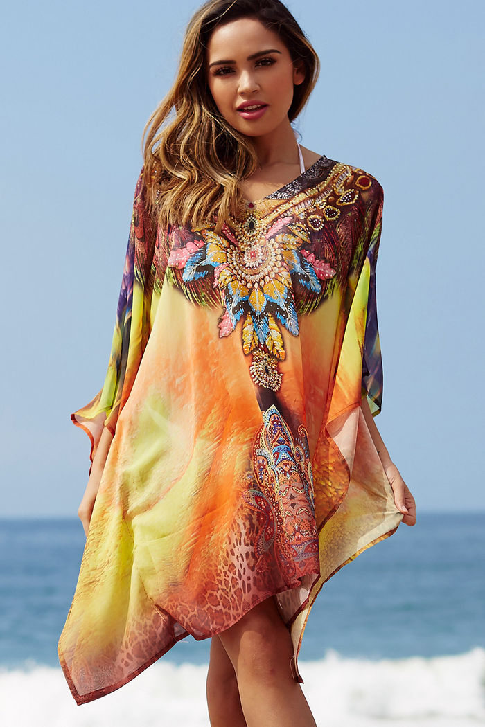 Cantina Mesa Indigenous Sunset Beach Cover Up Doll